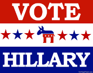 Vote for Hillary Sign