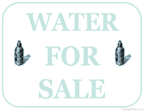 Water For Sale Sign