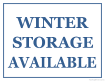 Winter Storage Available Sign